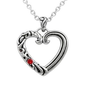 Jewelry - Enchanted Love Heart Necklace Red Crystal SST